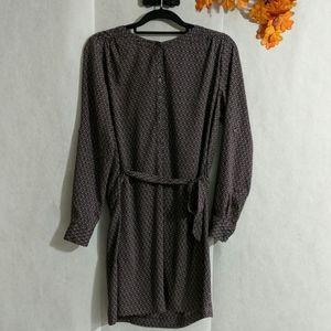Ann Taylor LOFT tie waist dress Sz S